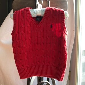 Polo by Ralph Lauren Cable Knit Sweater Vest 4T